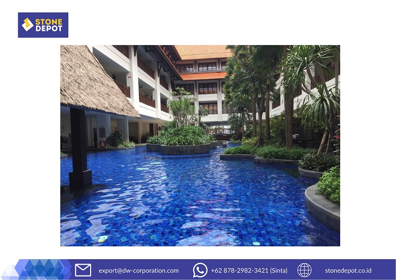 Summer Pool House Inspiration with Kuda Laut Mosaic